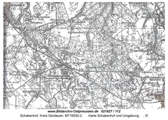 Schakenhof , Karte Schakenhof und Umgebung