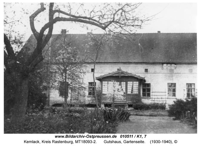 Kemlack, Gutshaus, Gartenseite