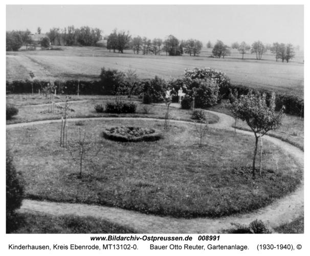 Kinderhausen, Bauer Otto Reuter, Gartenanlage