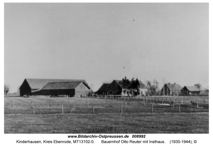 Kinderhausen, Bauernhof Otto Reuter mit Insthaus