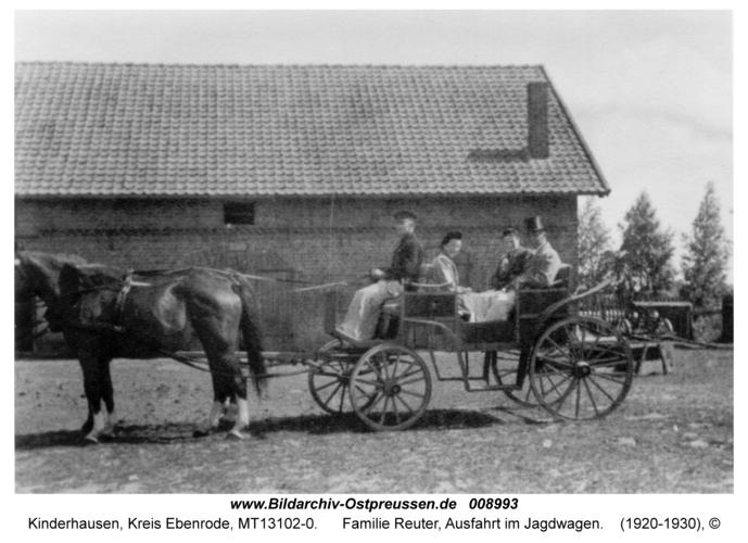 Kinderhausen, Familie Reuter, Ausfahrt im Jagdwagen