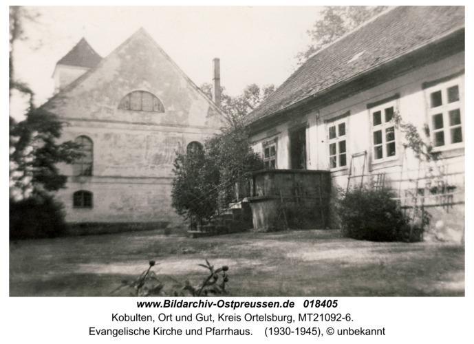 Kobulten, evangelische Kirche und Pfarrhaus