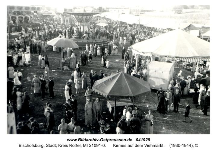 Bischofsburg, Kirmes auf dem Viehmarkt