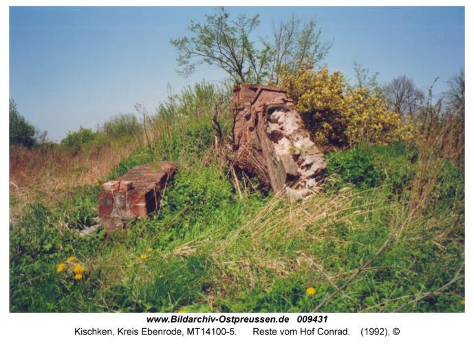 Kischken, Reste vom Hof Conrad