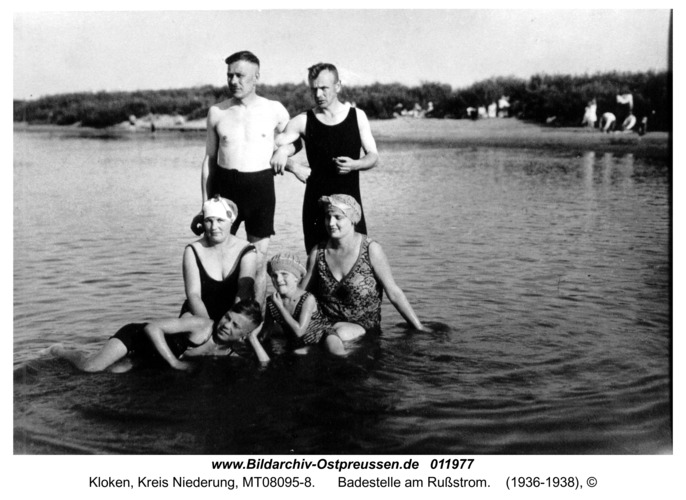 Kloken, Badestelle am Rußstrom