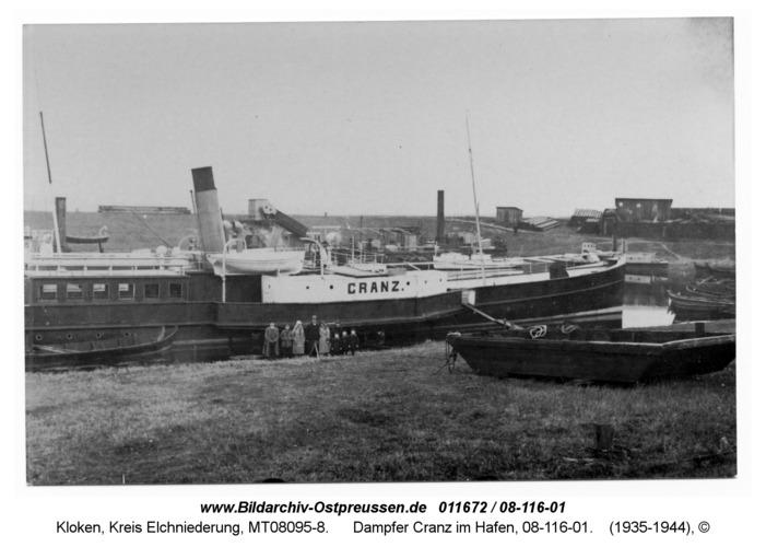 Kloken, Dampfer Cranz im Hafen, 08-116-01