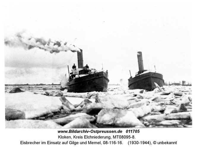 Kloken, Eisbrecher im Einsatz auf Gilge und Memel, 08-116-16