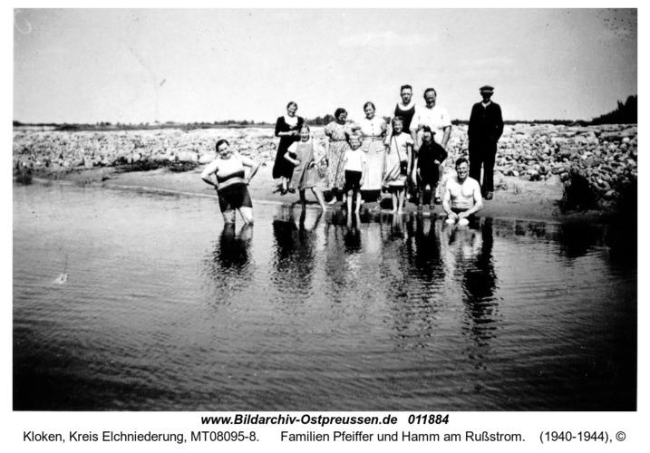 Kloken, Familien Pfeiffer und Hamm am Rußstrom