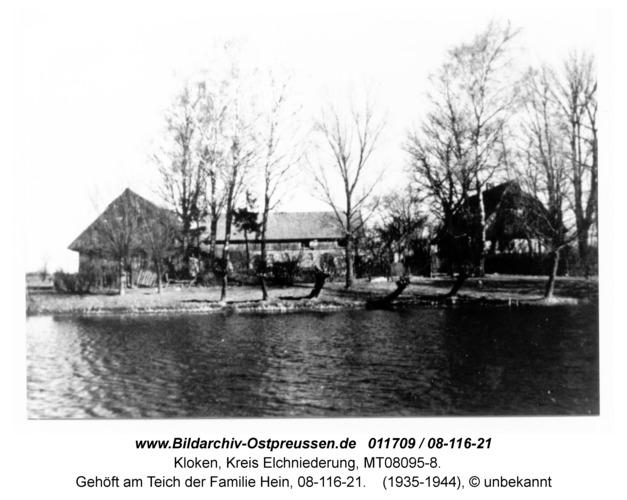 Kloken, Gehöft am Teich der Familie Hein, 08-116-21