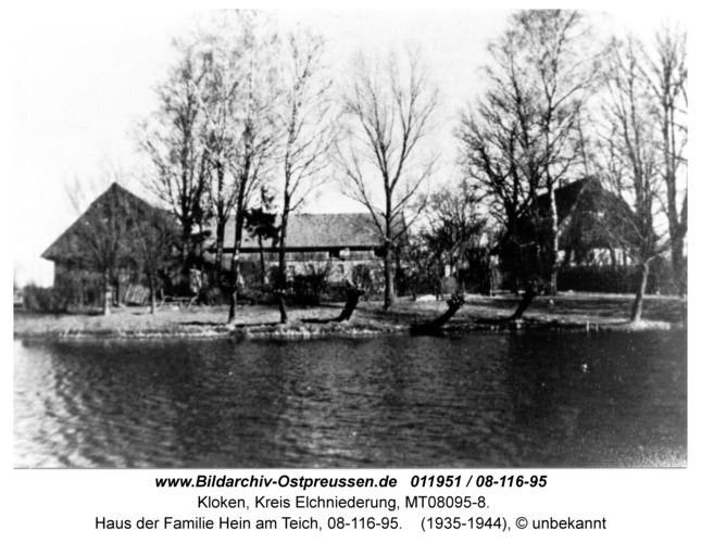 Kloken, Haus der Familie Hein am Teich, 08-116-95