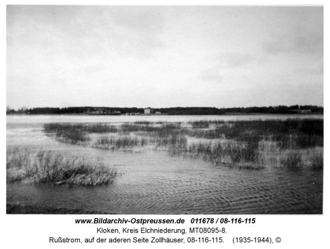 Kloken, Rußstrom, auf der anderen Seite Zollhäuser, 08-116-115