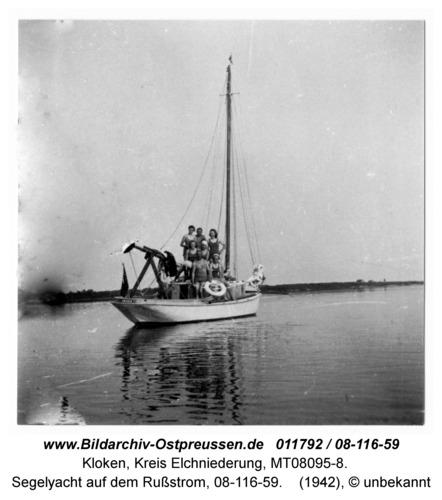 Kloken, Segelyacht auf dem Rußstrom, 08-116-59