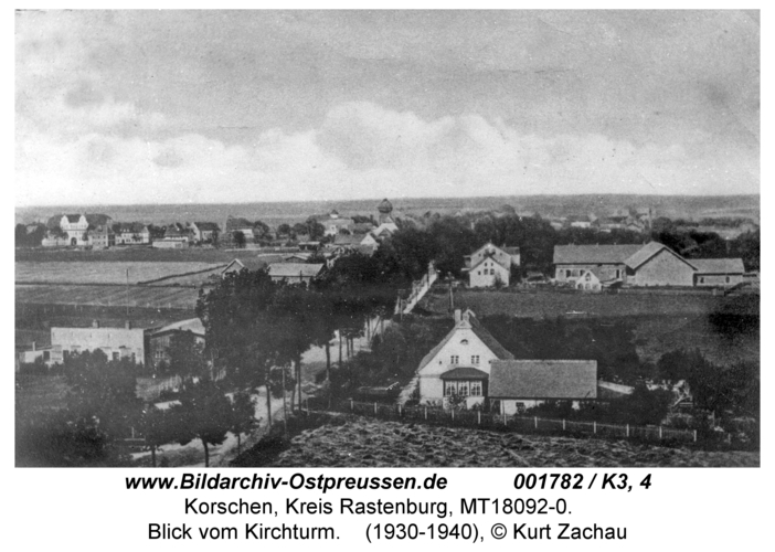 Korschen, Blick vom Kirchturm