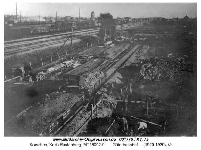 Korschen, Güterbahnhof