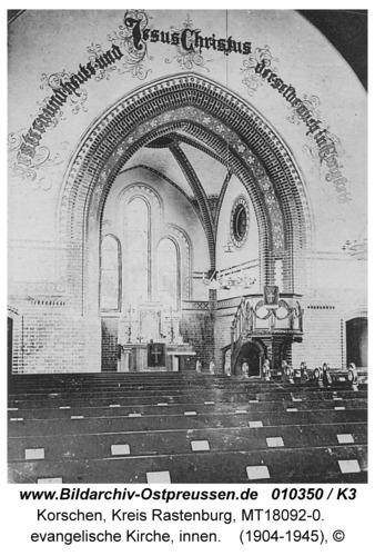 Korschen, Hindenburgstraße, evangelische Kirche, innen