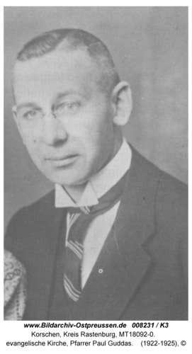 Korschen, evangelische Kirche, Pfarrer Paul Guddas