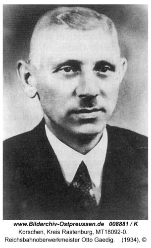 Korschen, Bahnhof, Otto Gaedig, Reichsbahnoberwerkmeister