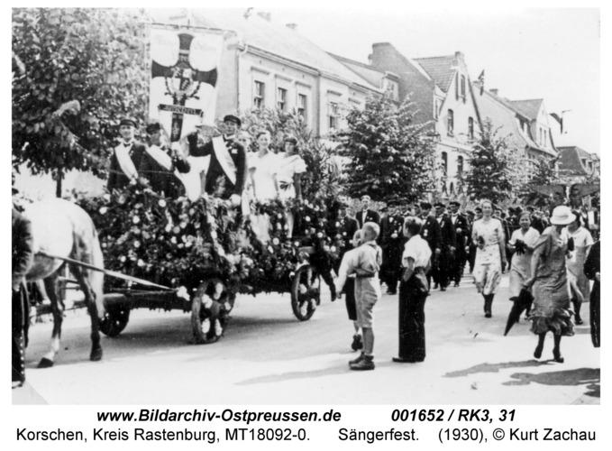 Korschen, Sängerfest