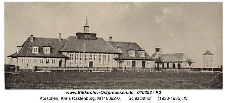 Korschen, Deutsche Straße, Schlachthof