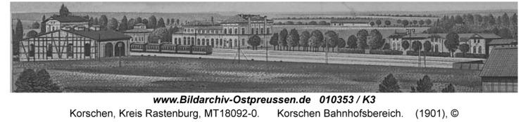 Korschen, Bahnhofsbereich