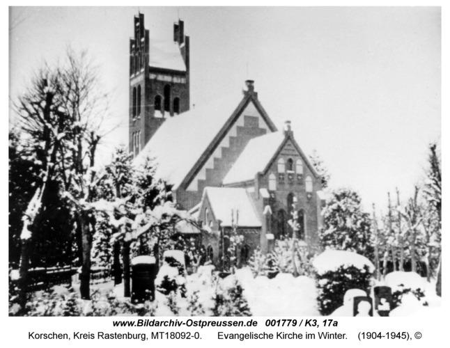 Korschen, evangelische Kirche im Winter