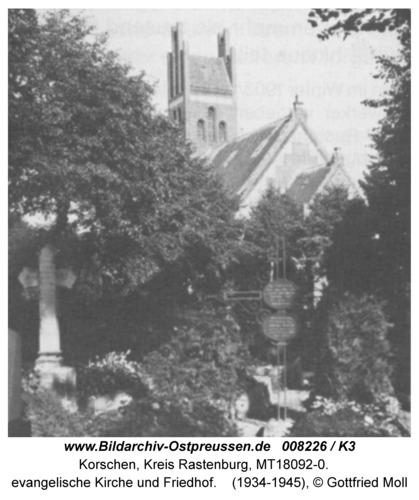 Korschen, evangelische Kirche und Friedhof