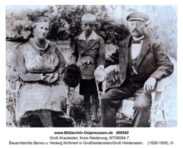 Bauernfamilie Benno u. Hedwig Kröhnert in Großheidenstein/Groß Heidenstein