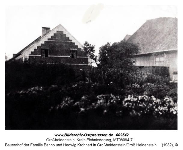 Bauernhof der Familie Benno und Hedwig Kröhnert in Großheidenstein/Groß Heidenstein