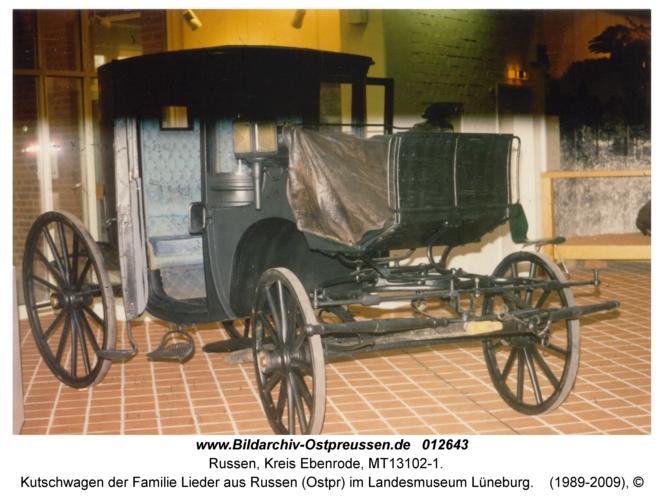 Kutschwagen der Familie Lieder aus Russen (Ostpr) im Landesmuseum Lüneburg