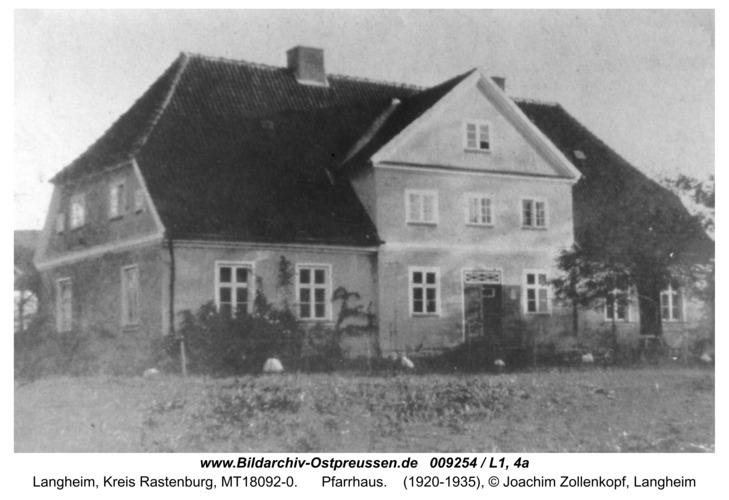 Langheim, Pfarrhaus