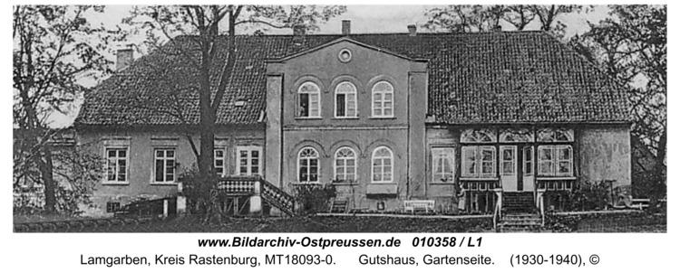 Lamgarben, Gutshaus, Gartenseite