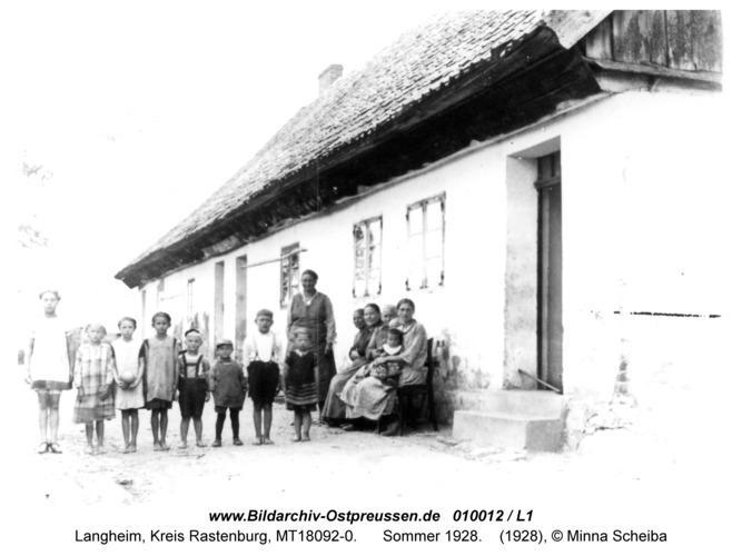 Langheim, Sommer 1928