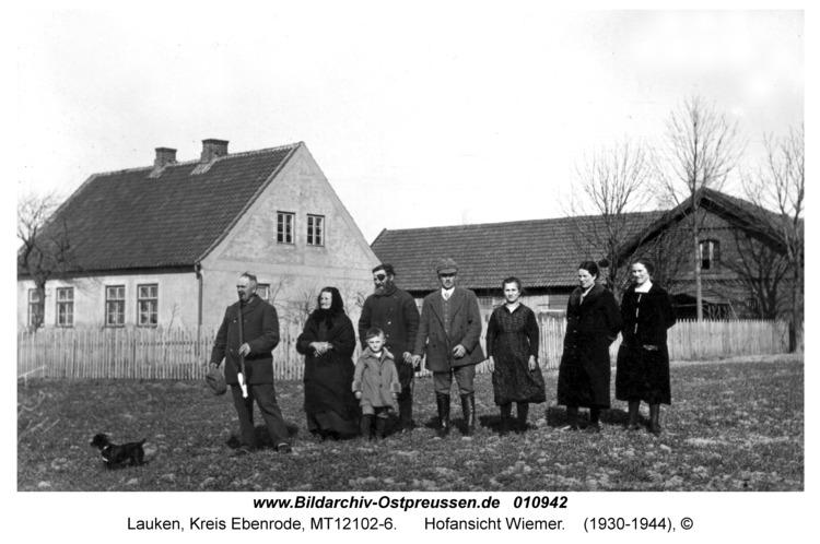 Lauken Kr. Ebenrode, Hofansicht Wiemer