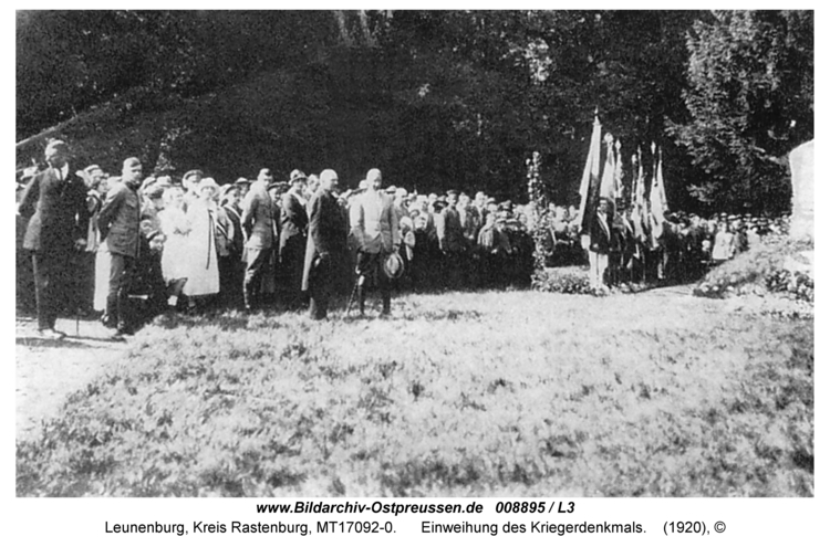 Leunenburg, Einweihung des Kriegerdenkmals