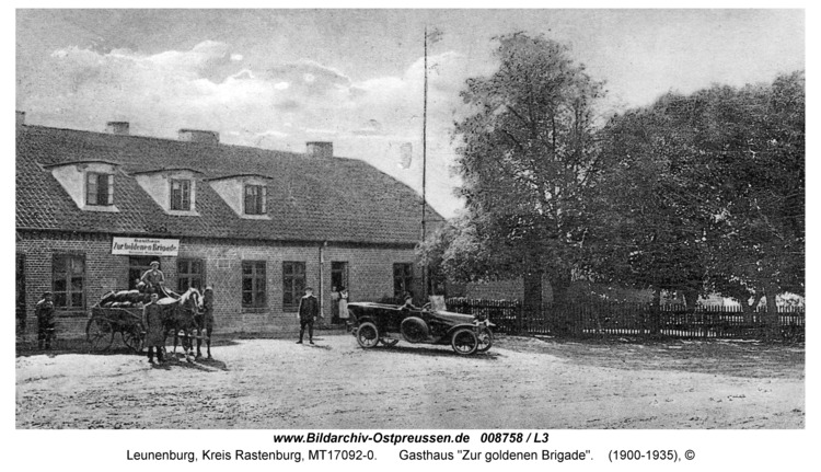 """Leunenburg, Gasthaus """"Zur goldenen Brigade"""""""