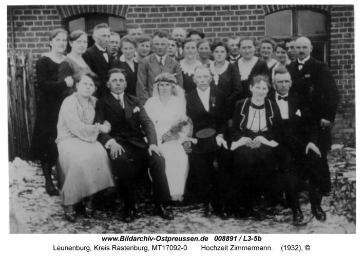 Leunenburg, Hochzeit Zimmermann