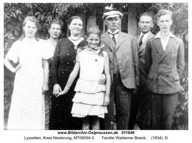 Lyszeiten, Familie Waldemar Boeck