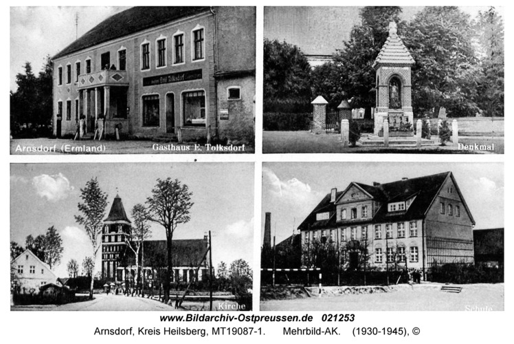 Arnsdorf Kr. Heilsberg, Mehrbild-AK