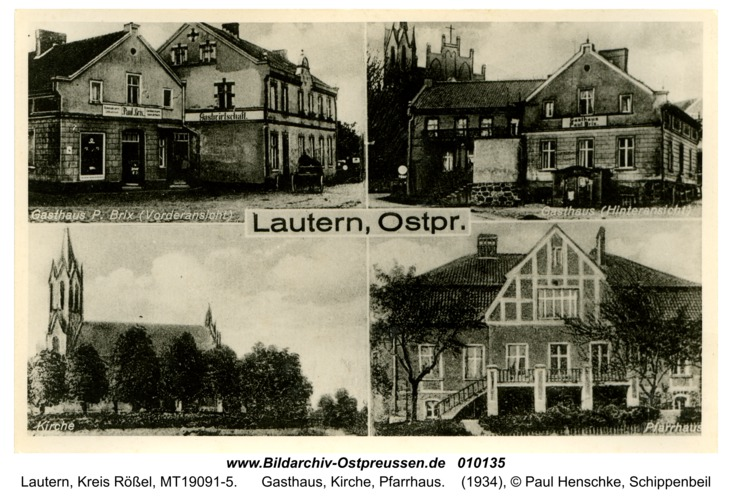 Lautern, Gasthaus, Kirche, Pfarrhaus