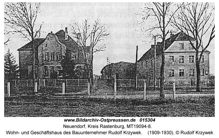 Neuendorf, Wohn- und Geschäftshaus des Bauunternehmer Rudolf Krzywek