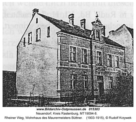 Neuendorf, Rheiner Weg, Wohnhaus des Maurermeisters Büttner