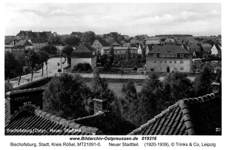 Bischofsburg, Neuer Stadtteil