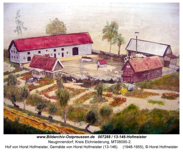 Neuginnendorf, Hof von Horst Hofmeister, Gemälde von Horst Hofmeister (13-146)