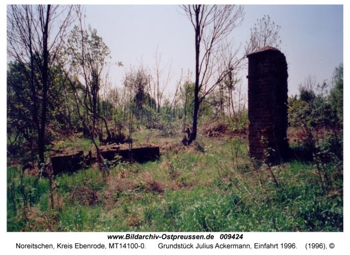 Noreitschen, Grundstück Julius Ackermann, Einfahrt 1996