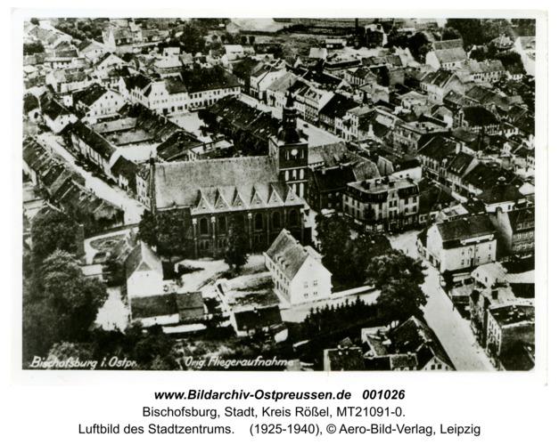 Bischofsburg, Luftbild des Stadtzentrums