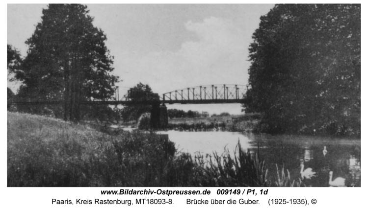Paaris, Brücke über die Guber