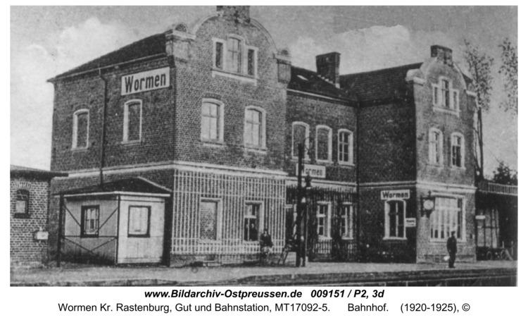 Wormen, Bahnhof