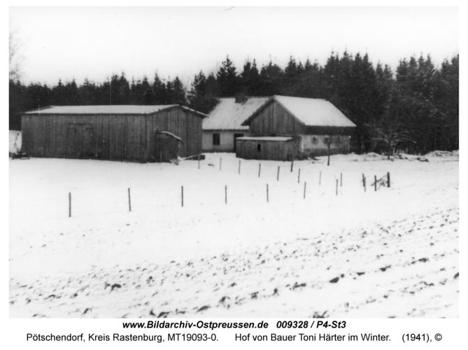 Pötschendorf, Hof von Bauer Toni Härter im Winter