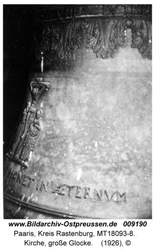 Paaris, Kirche, große Glocke