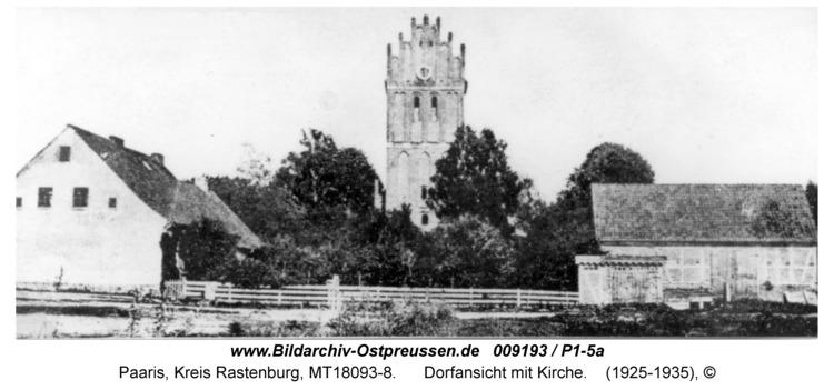Paaris, Dorfansicht mit Kirche
